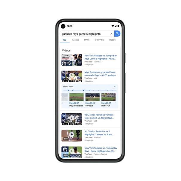 Google algoritme video