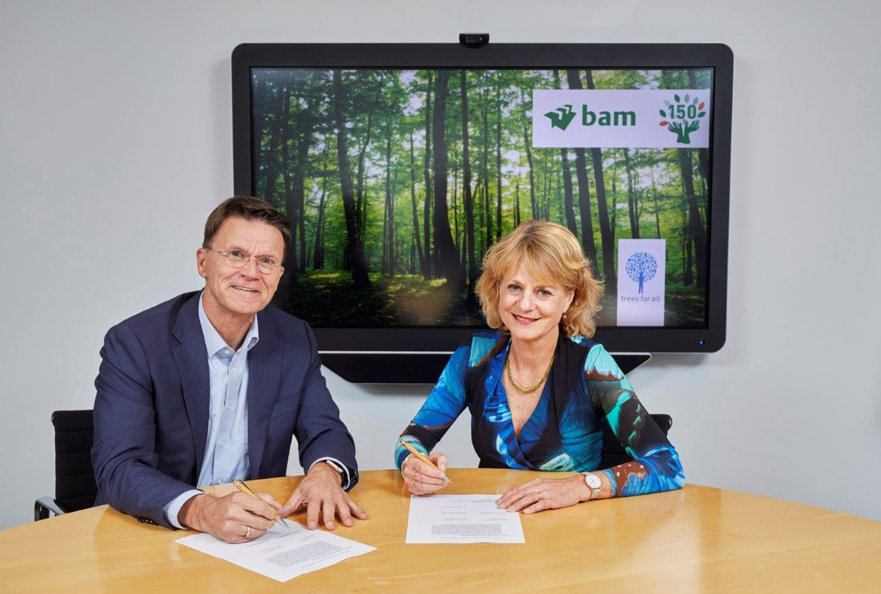 BAM en Trees for All tekenen samenwerkingsovereenkomst voor planten 150.000 bomen