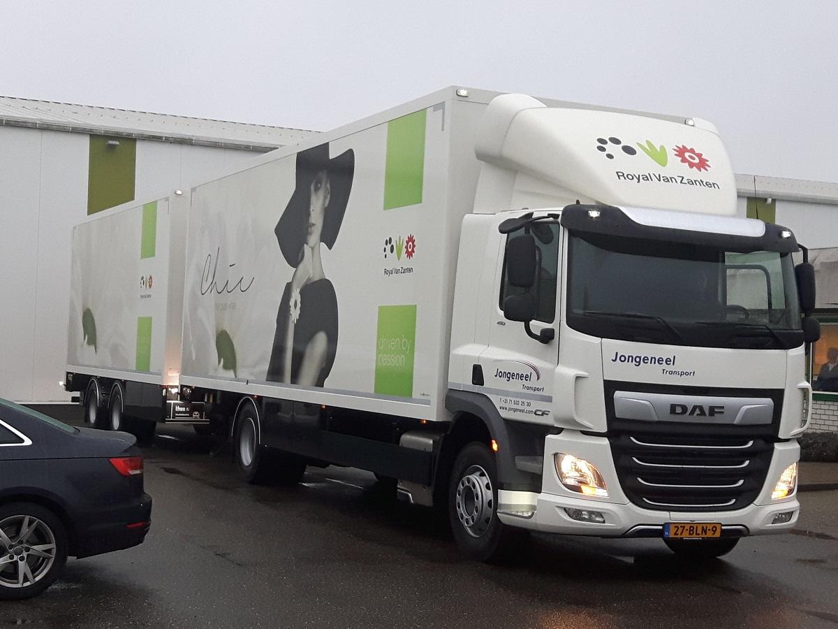 Royal van Zanten Chic op reis met Jongeneel Transport